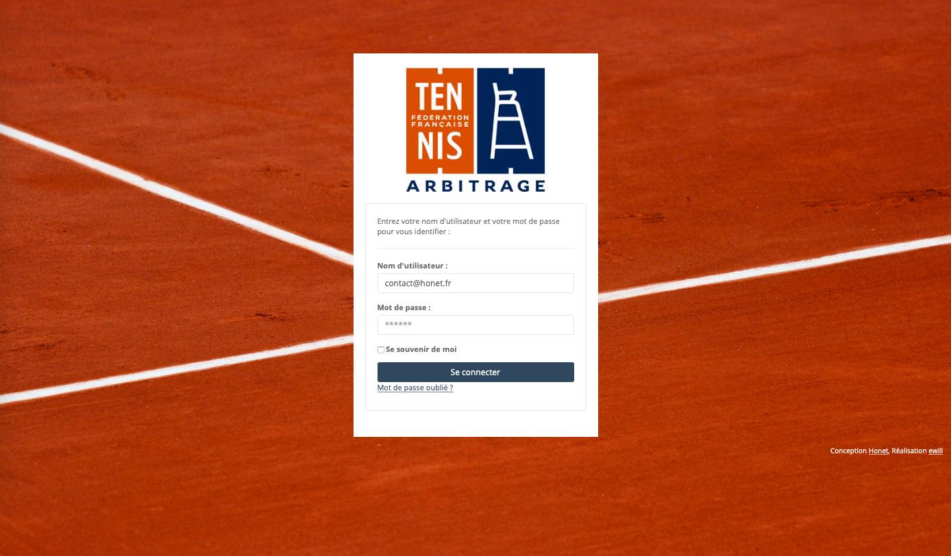 extranet Fédération Française de Tennis