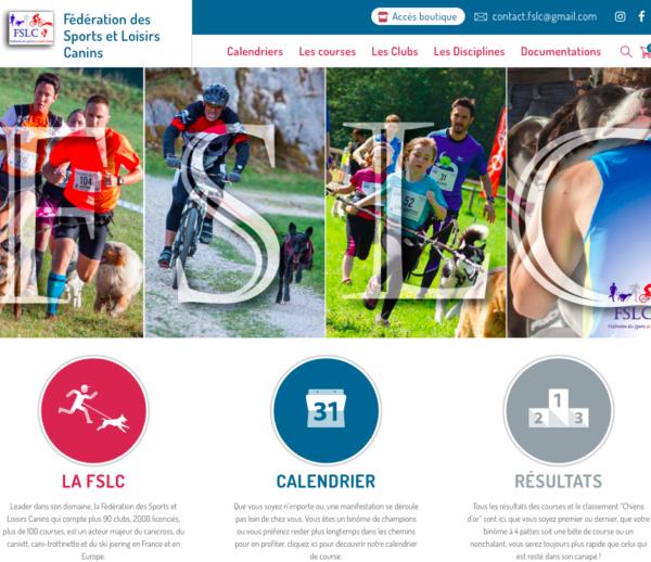 Site web avec extension WooCommerce – Fédération des Sports et Loisirs Canins