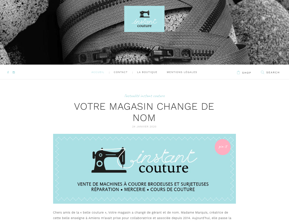 Site web Instant Couture