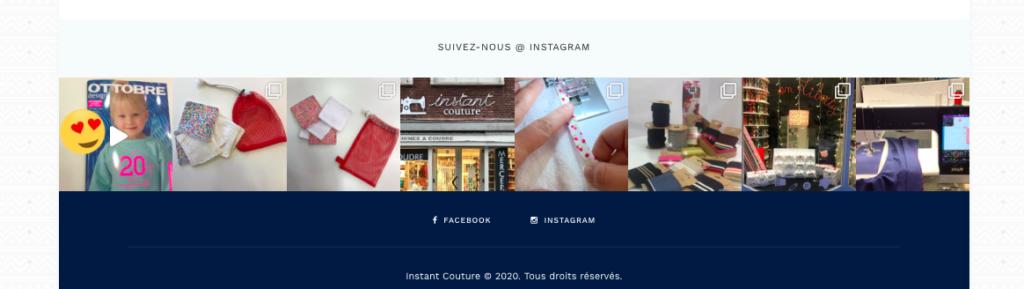 Illustration site Instant Couture