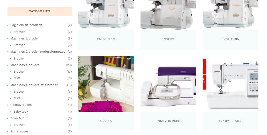 Illustration catalogue machines à coudre Instant Couture