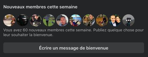 Message de bienvenue Facebook