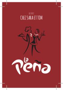 carte visite La Peña rouge