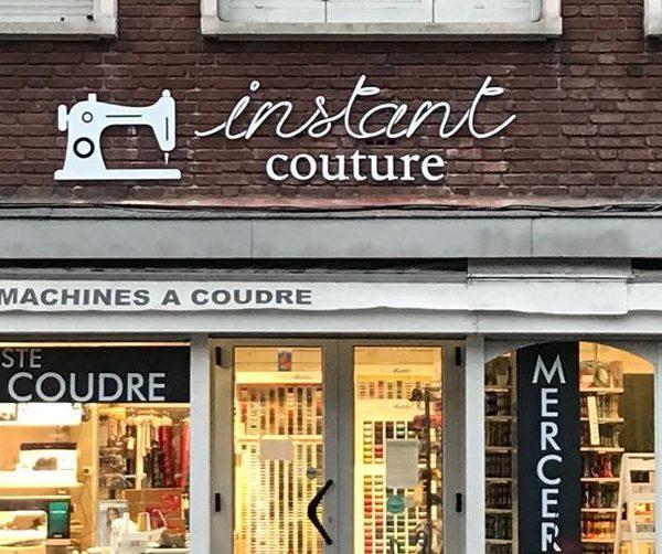 Enseigne de magasin – Instant couture