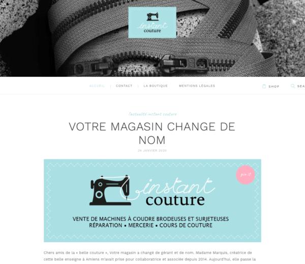 Création site web avec catalogue produits – Instant Couture