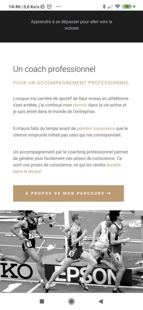 efta coaching sur smarpthone