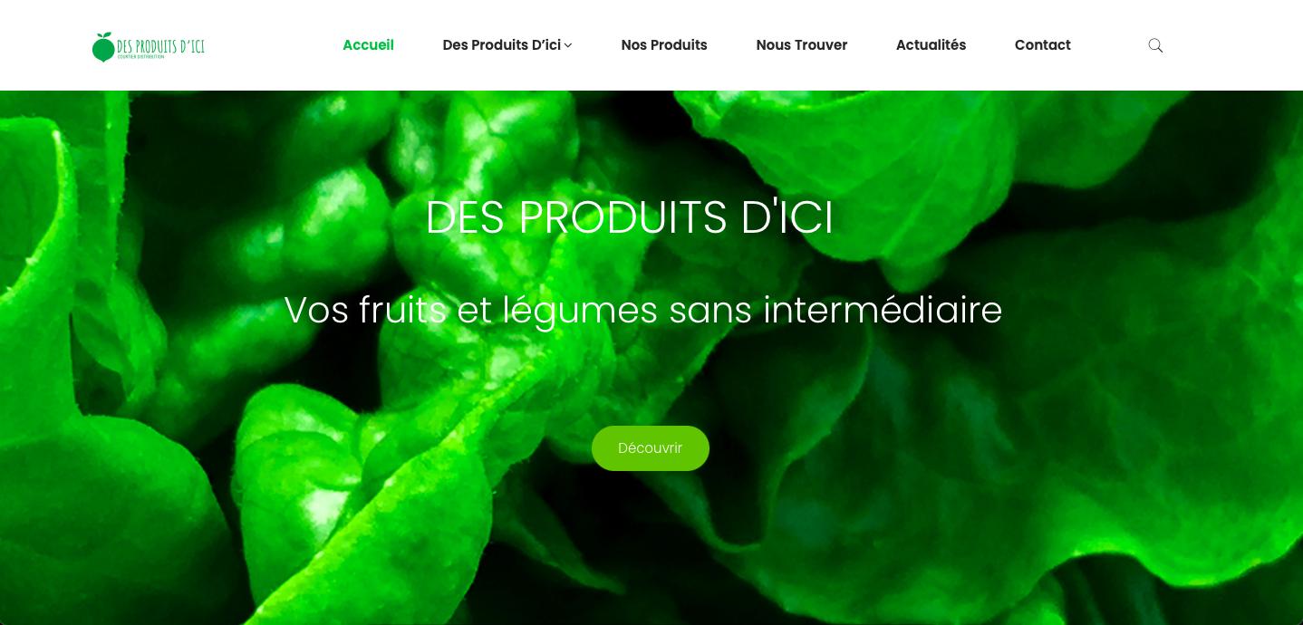 Site web Des Produits d'Ici