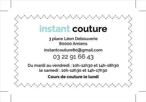 carte de visite verso instant Couture