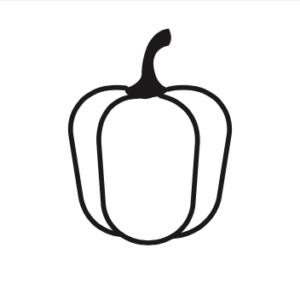 Icône poivron Des Produits d'Ici